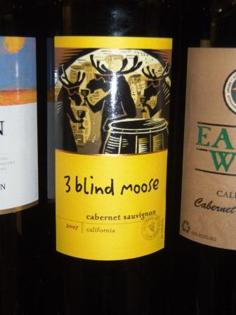 3 Blind Moose Cabernet Sauvignon